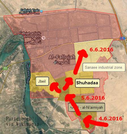 Irakische Sicherheitskräfte kommen in Falluja gut voran