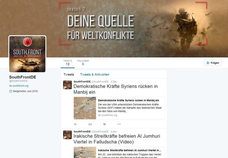 SouthFronth DE bei Twitter