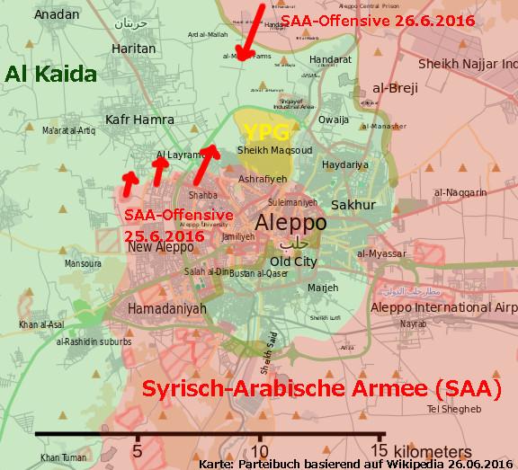 Syrische Armee macht bei Gegenoffensive nördlich von Aleppo Fortschritte (2)