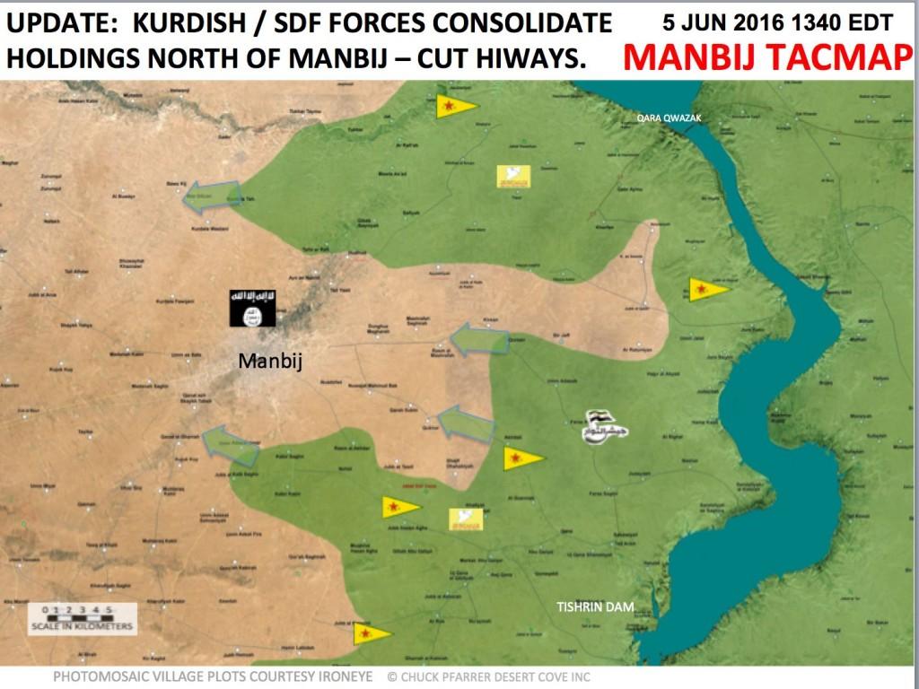 YPG sind nun auch nördlich und südwestlich von Manbij