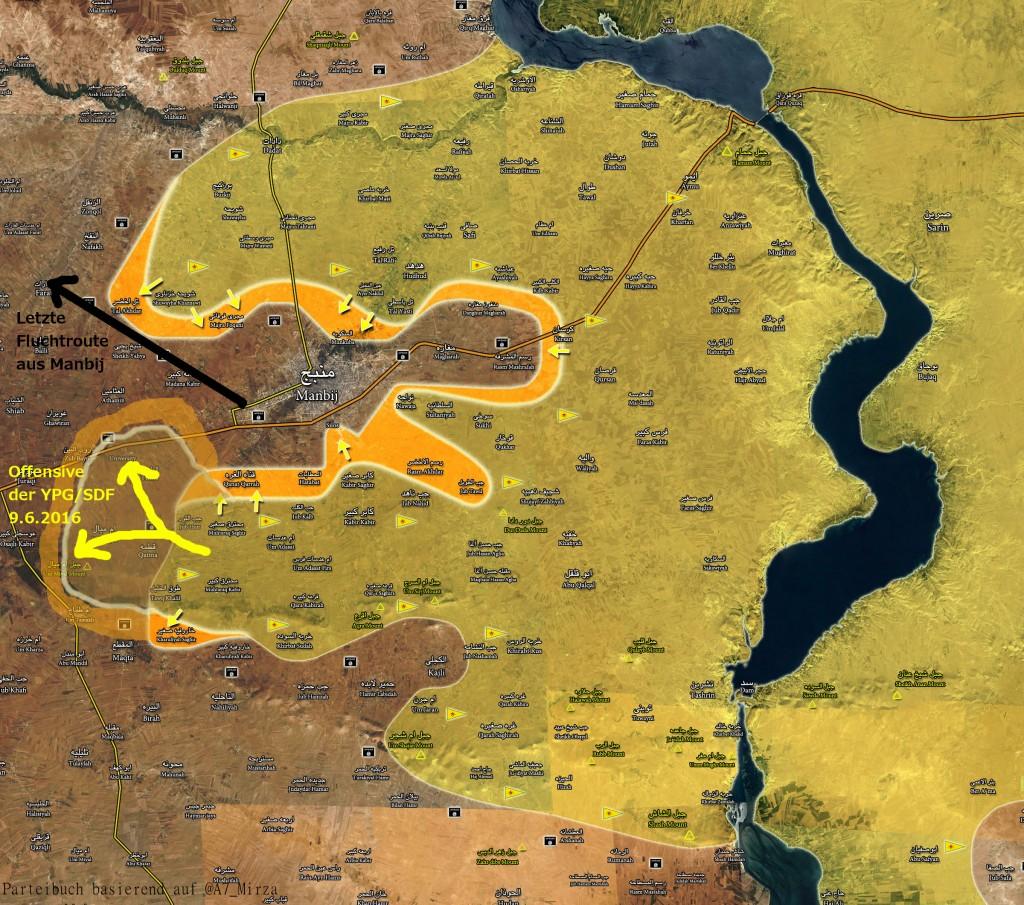 YPG_SDF macht Umzingelung von Manbij komplett