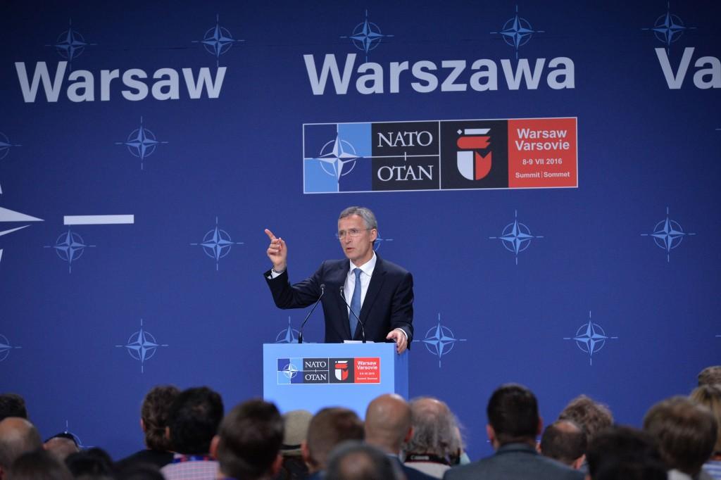 Pressekonferenz des Generalsekretärs der NATO - NATO-Gipfel in Warschau, 08. Juli 2016