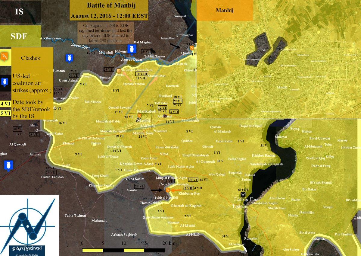 Syrien Karte 2016.Syrien Militarische Lage In Manbidsch 12 August 2016