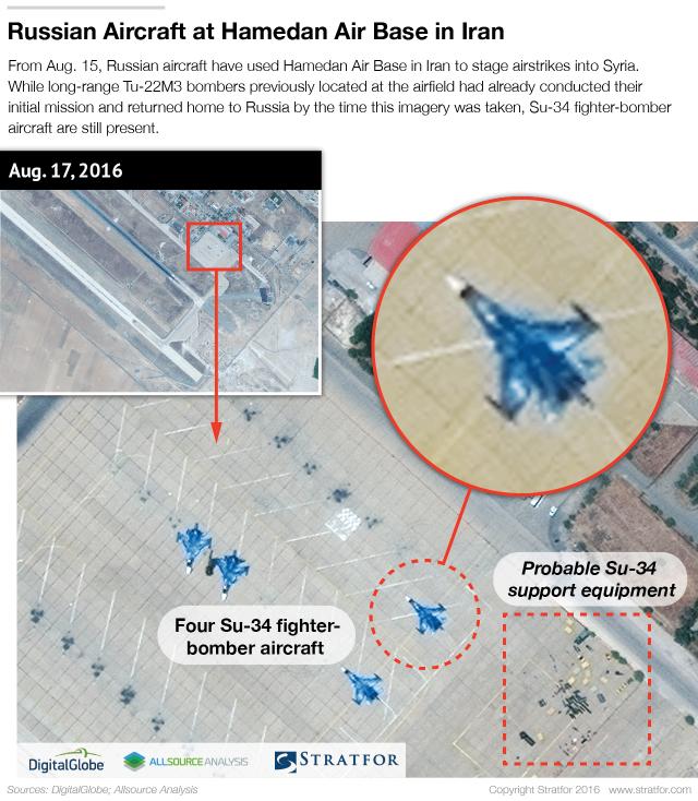 Satellitenbilder zeigen wichtige Details der auf der iranischen Luftwaffenbasis Hamedan stationierten russischen Luft- und Raumfahrtkräfte