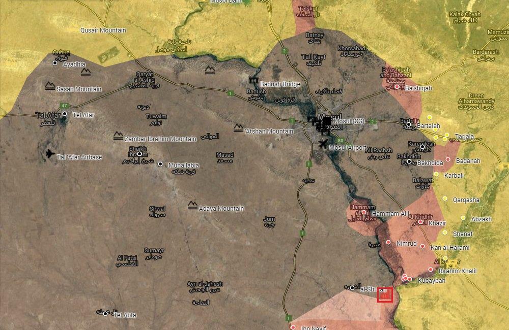 mossul karte Überblick über die Schlacht um Mossul am 17. Oktober 2016 (+