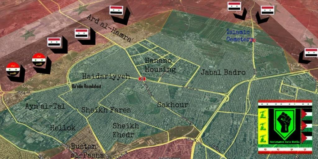 Klicken Sie auf die Karte um diese in voller Größe zu sehen - Karte: @Syria_Hezb_Iran