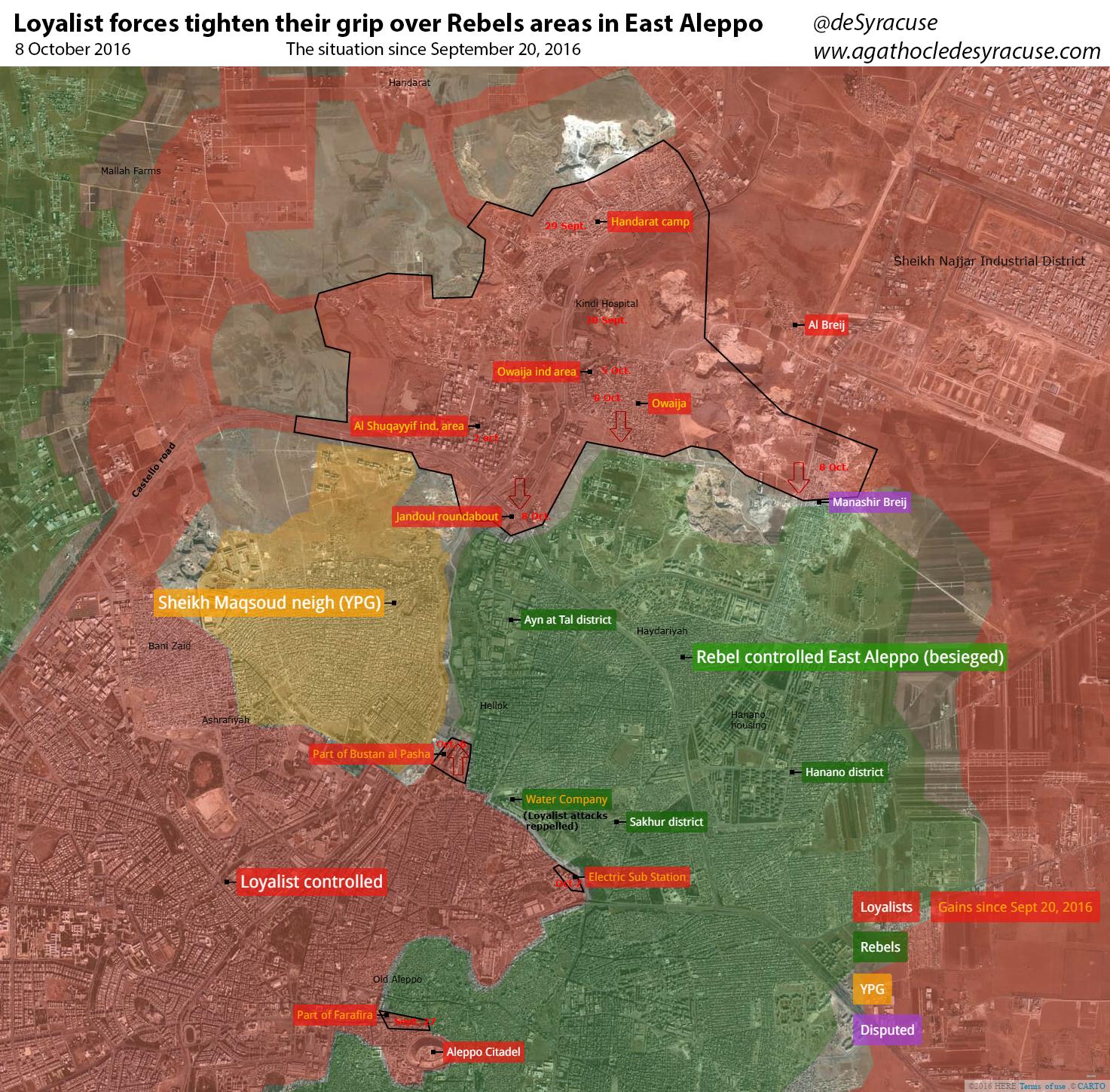 Syrien Karte 2016.Syrien Uberblick Uber Die Militarische Lage In Der Stadt