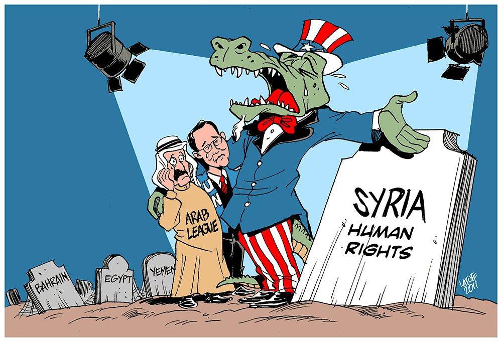 Klicken Sie auf die Karte um diese in voller Größe zu sehen - Karte: Karikatur Carlos Latuff