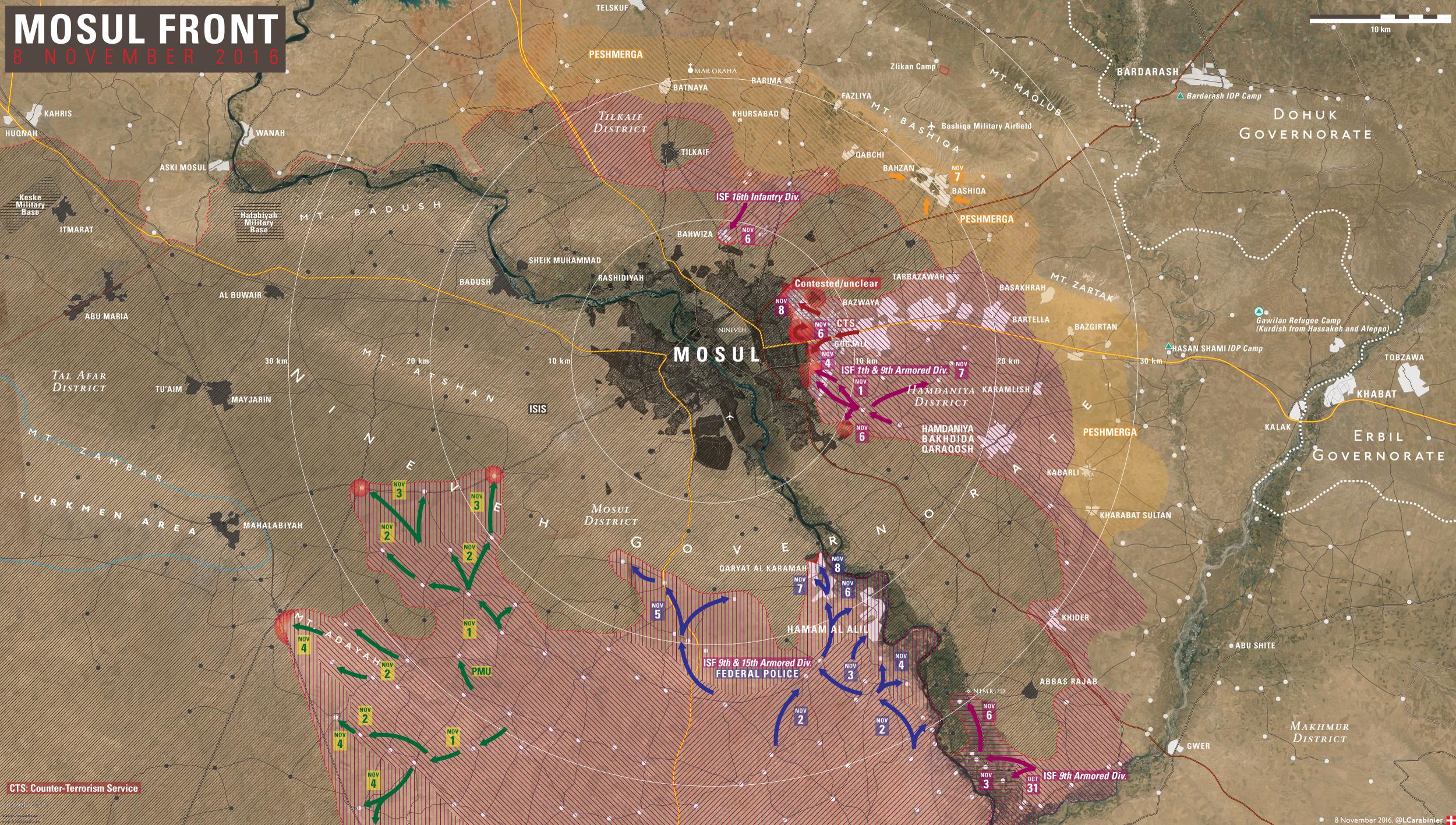 Klicken Sie auf die Karte um diese in voller Größe zu sehen - Karte: @LCarabinier