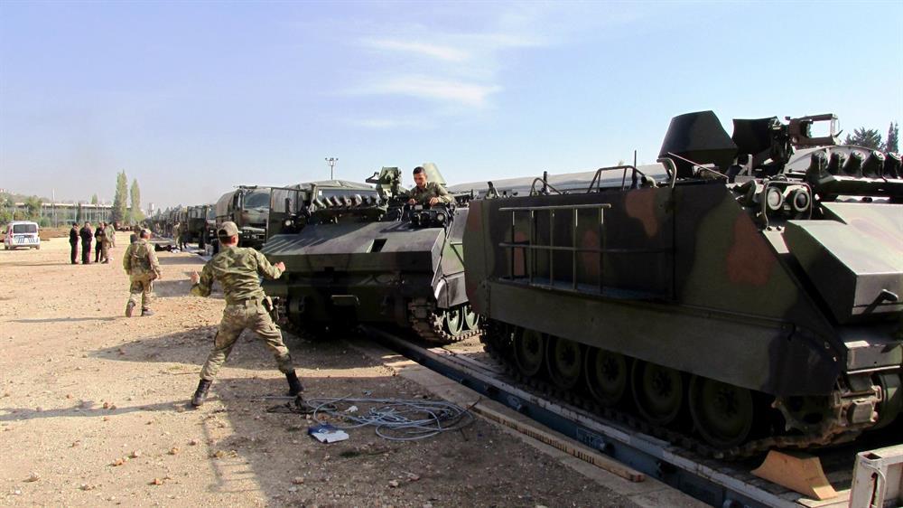 Der türkische Militärkonvoi auf dem Weg zur irakischen Grenze Foto: yenisafak.com
