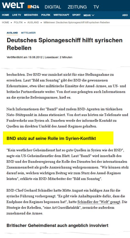 ARD und ZDF belügen die deutsche Öffentlichkeit über die europäische Kriegsbeteiligung in Syrien 4