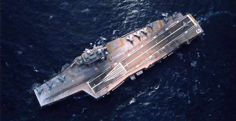 Der nukleare Flugzeugträger Charles de Gaulle (Foto: indiandefence.com)
