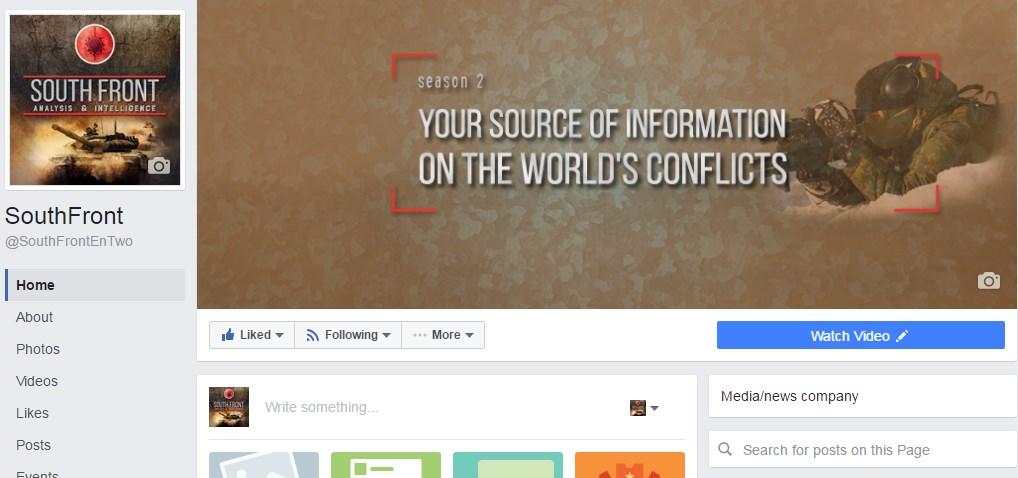 Screenshot von https://www.facebook.com/SouthFrontEnTwo/