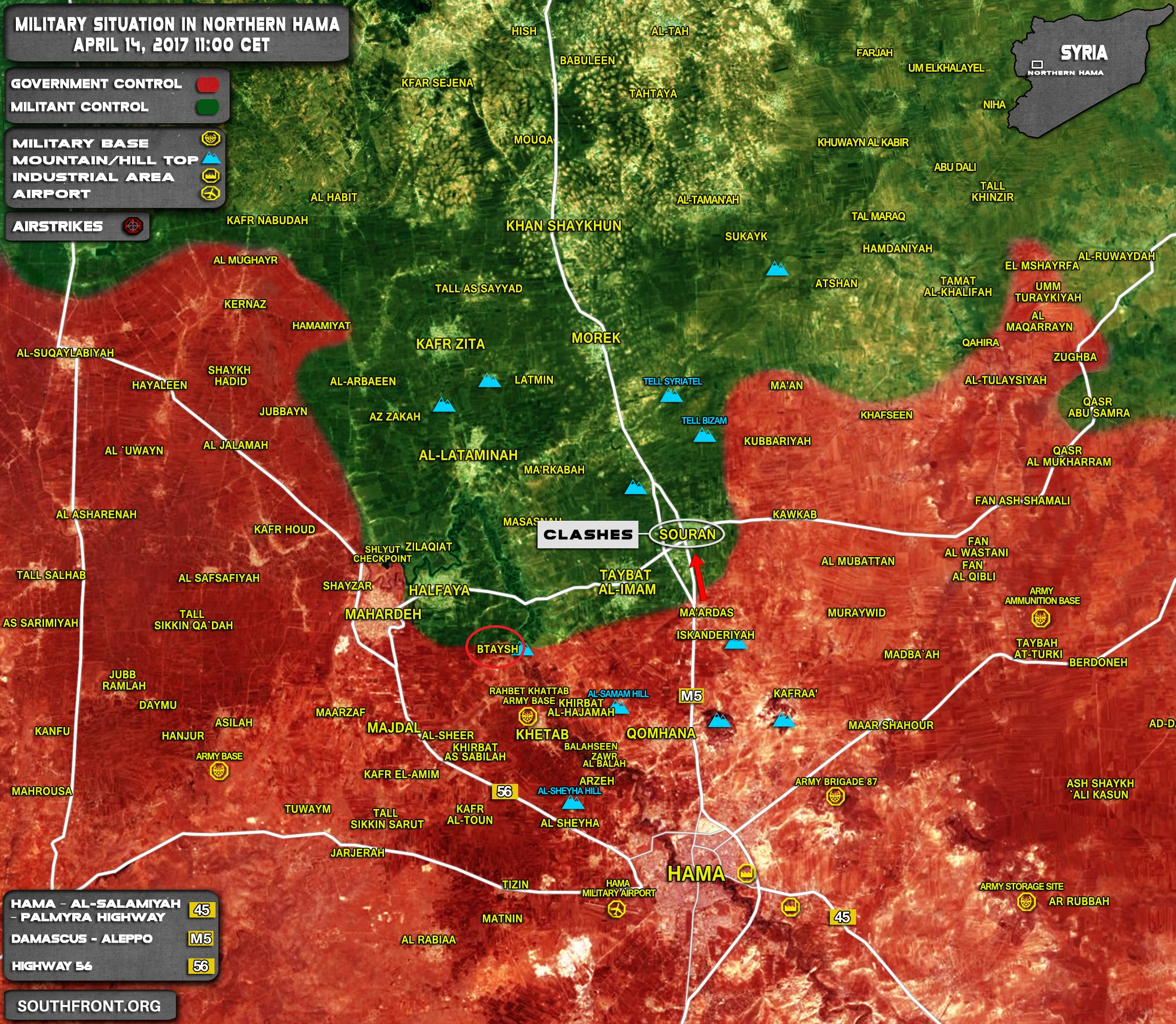 14april_11-00_Northern_Hama_Syria_War_Map