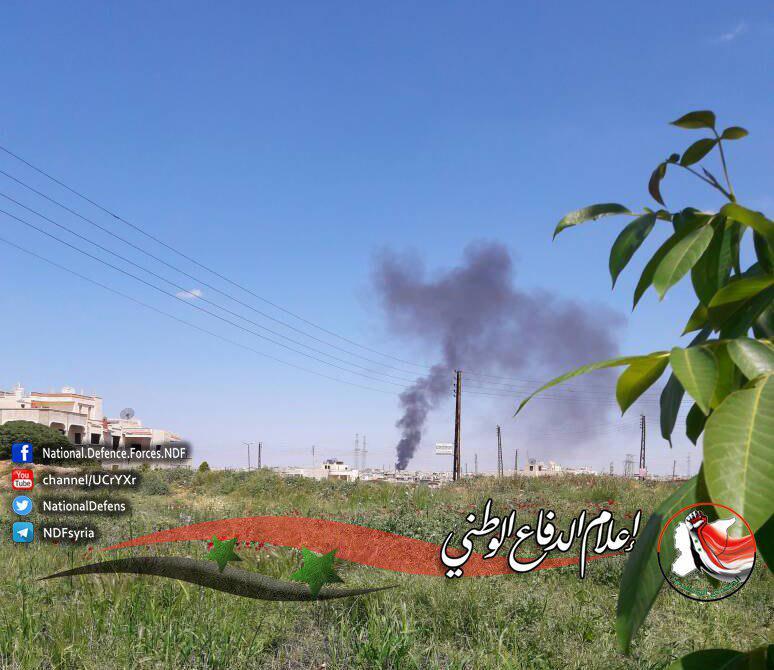 Blick in Richtung des zerstörten Waffendepots in Halfaya