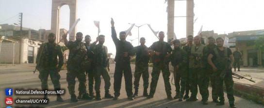 Betraten als erste Halfaya: die Nationalen Verteidigungskräfte - Bild: @NationalDefens