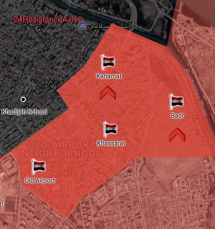 Karte von Deir ez-Zor