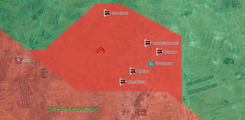 Gebietsgewinne der syrischen Armee im Norden des Gouvernements Hama