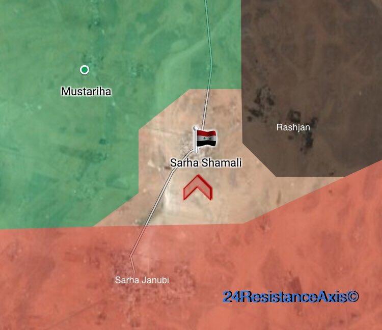 Ortschaft Sarha Shamali zurückerobert