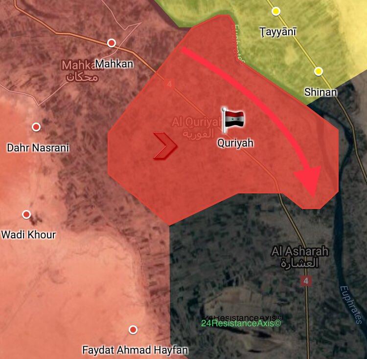 Die Offensive der syrischen Armee am westlichen Euphrat-Ufer