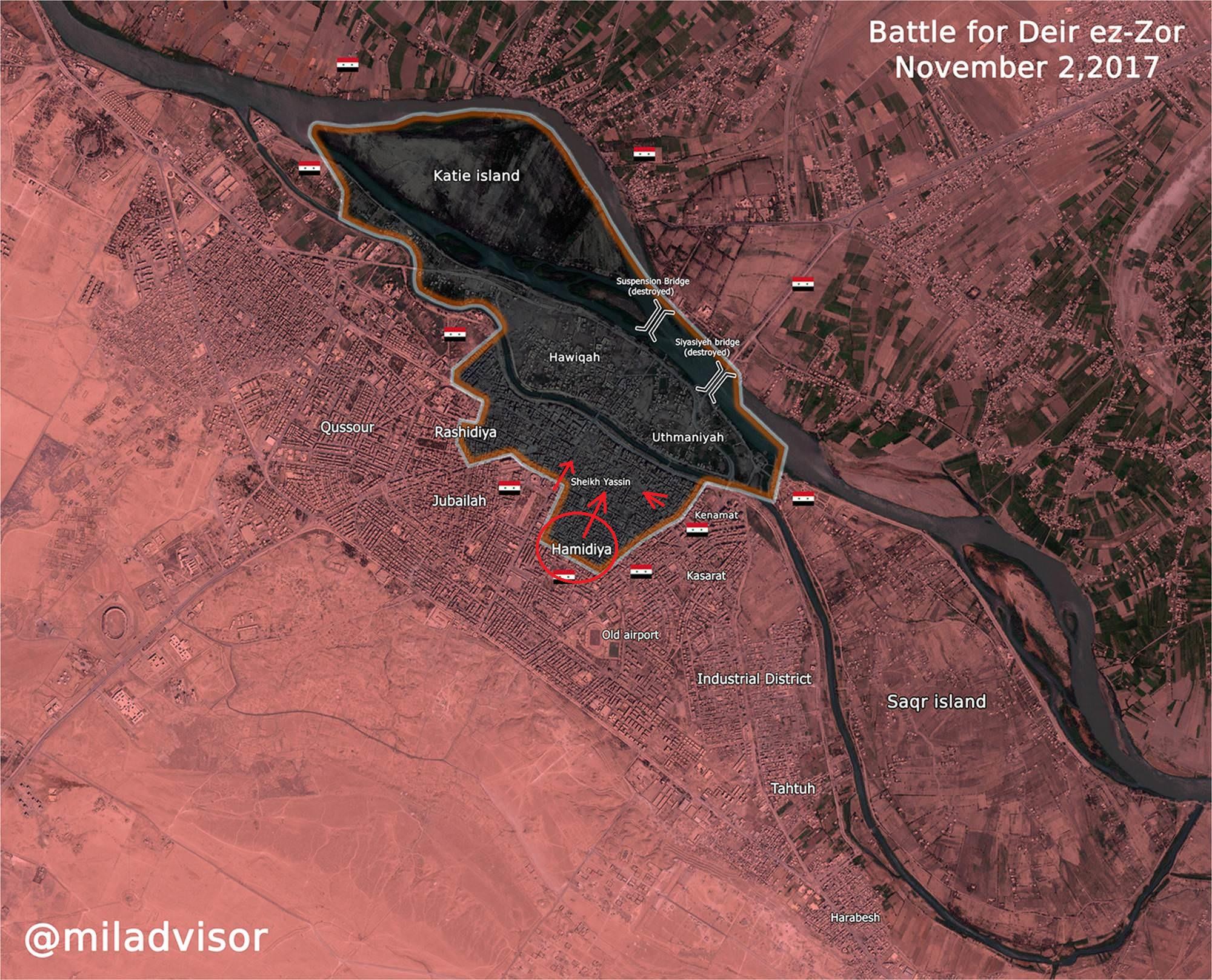 Karte der Lage in Deir ez-Zor (allgemein)