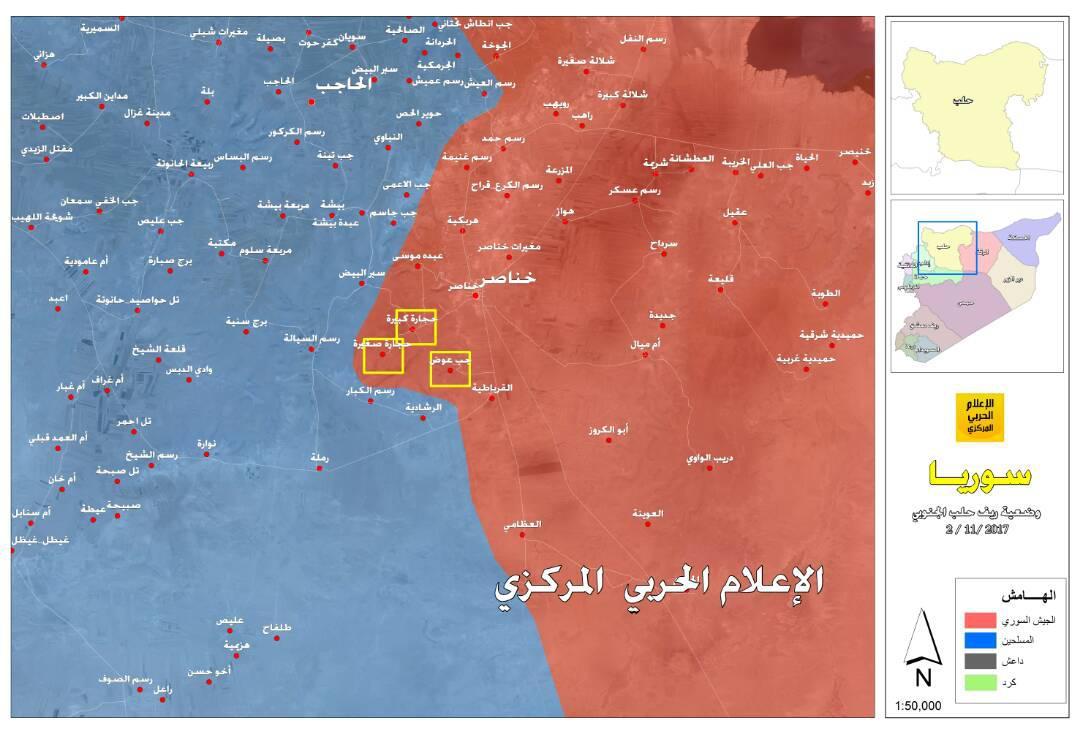 Karte der Offensive