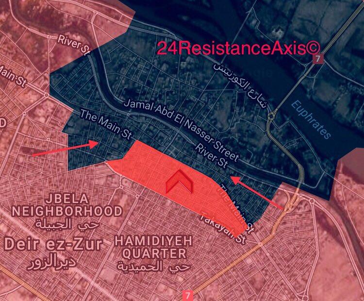 Karte der Lage in Deir ez-Zor