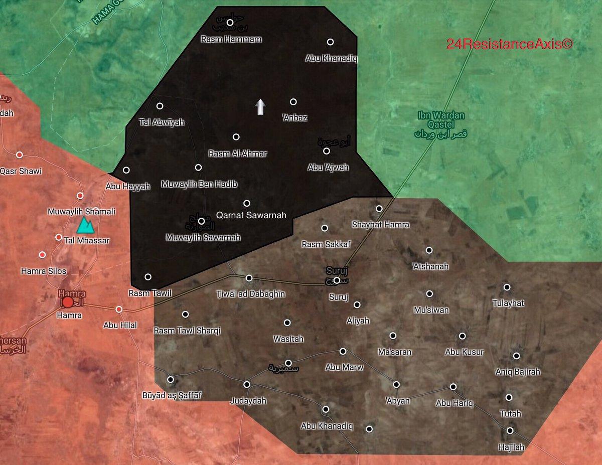 Lage im Nordosten des Gouvernements Hama